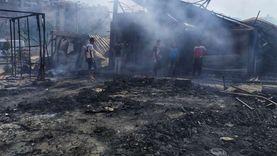 تشكيل لجنة لحصر خسائر حريق سوق توشكى بحلوان