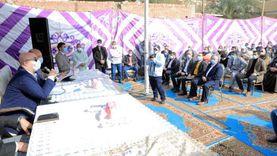 محافظ بني سويف يعقد حوارا مجتمعيا مع أهالي بعض قرى مركز ناصر