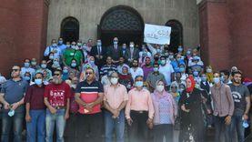 """مسيرة لجامعة الإسكندرية لحث المواطنين على التصويت في """"الشيوخ"""""""