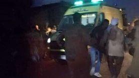 مصرع رضيع وإصابة 4 أشخاص في حادث انقلاب سيارة بأسيوط