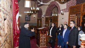 """وفد """"التنسيقية"""" يزور كنيسة الملاك ميخائيل بمنيا القمح في الشرقية"""
