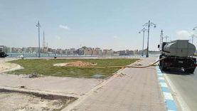 """تشجير ميدان """"روميل"""" أشهر المناطق السياحية بمرسى مطروح (صور)"""
