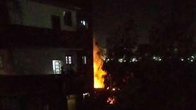 السيطرة على حريق شب في منزل وحظيرة مواشي بالقليوبية