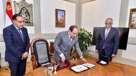 عينات البنكنوت الجديد.. الرئيس يوجه بتطوير القطاع المصرفي