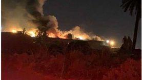 بالفيديو.. اندلاع حريق في مستودعات السوق الحرة في دبي