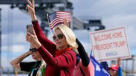 فيديو.. أنصار ترامب يحتشدون للترحيب به في فلوريدا: أهلا بك في بيتك