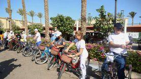 ماراثون للدراجات بمدينة شرم الشيخ للاحتفال بيوم السياحة العالمي