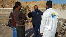صحة جنوب سيناء تتابع محطة تحلية المياه بمدينة طابا