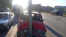 مصرع طفل وإصابة 3 آخرين في تصادم سيارتين بطريق نادي الشرطة بالمحلة
