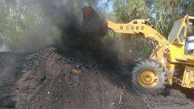 إزالة 3 مكامير فحم على الأراضي الزراعية بدمياط
