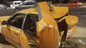 السيارة تحولت لكومة حديد.. إصابة شخصين في حادث تصادم بالإسماعيلية