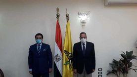 محافظ شمال سيناء يستقبل رئيس الاتحاد المصري للميني فوتبول