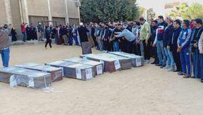 تشييع جثامين 7 سوريين لقوا مصرعهم في حادث مروري بصحراوي بني سويف