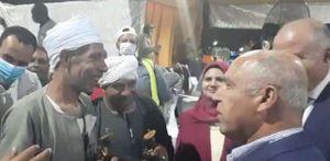 مزمار وخيل على محور الشهيد باسم فكري في قنا بحضور وزير النقل
