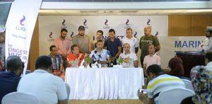 مؤتمر صحفى للبطل الربان ولاء حافظ - تصوير محمد مصطفى