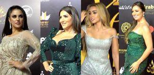إطلالات الفنانات على الريد كاربت بمهرجان الفضائيات العربية
