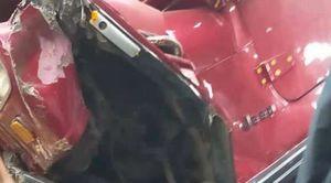 السيارة التي سقطت من أعلى محور صفط اللبن