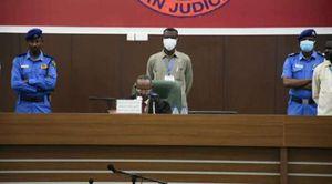 المحكمة السودانية خلال نطقها بحكم الاعدام على 6 جنود سودانيين اليوم