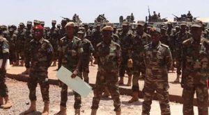 عناصر من الجيش الوطني الصومالي