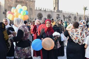 صلاة عيد الأضحى من مسجد عمرو ابن العاص