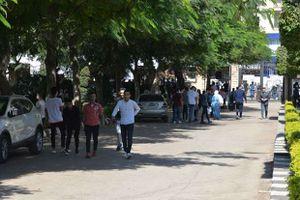 أول يوم دراسي بجامعة المنصورة - تصوير سمير وحيد
