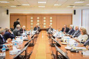 اجتماع مجلس أمناء جامعة النيل - تصوير محمود صبرى