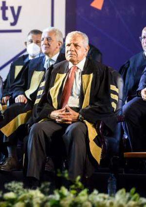 حفل تخرج جامعة النيل وتقليد المستشار عدلى منصور الدكتوراه الفخرية - تصوير محمود صبرى