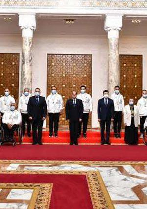 استقبال الرئيس السيسي للاعبين واللاعبات والأطقم التدريبية المتوجة بميداليات خلال دورة الألعاب البارالمبية