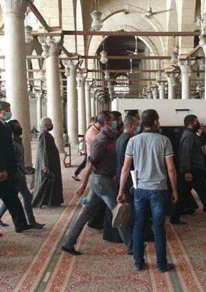 تشيع جثمان القيادي العمالي الكبير محمد وهب الله تصوير اسامه همام