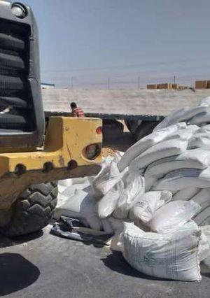 انقلاب كميات كبير من السكر على الطريق الصحراوي بقنا