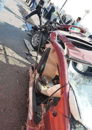 مصرع 4 أشخاص من أسرة واحدة في حادث تصادم بالشرقية