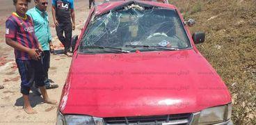 انقلاب سيارة فى كفر الشيخ