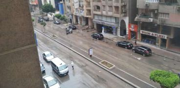 صقوط أمطار في شوارع الجيزة