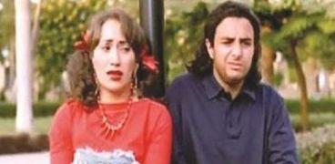 إيناس مكي مع أحمد الفيشاوي في مشهد من فيلم «الحاسة السابعة»