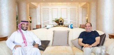 لقاء الرئيس عبد الفتاح السيسي وولي العهد السعودي محمد بن سلمان