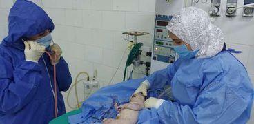 إجراء ولادة قيصرية لسيدة مصابة بكورونا بـ«عزل فاقوس» بالشرقية