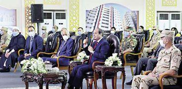 الرئيس يتحدث خلال افتتاحه عددا من المشروعات القومية في الإسكندرية