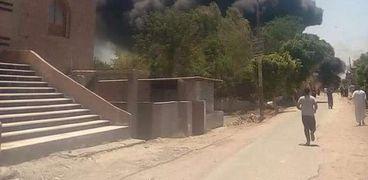 حريق سيارة مواد بترولية بالمنوفية