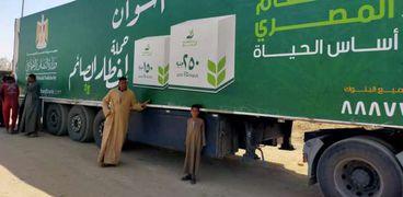 محافظ أسوان : منظومة محكمة لتوزيع 16 ألف كرتونة مواد غذائية