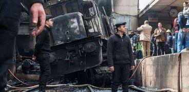 صورة من حادث قطار رمسيس