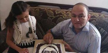 شيف يصمم لوحة تحمل وجه وزيرة الصحة