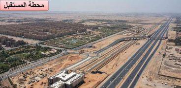 صور من أعمال إنشاءات محطات القطار الكهربائي الخفيف