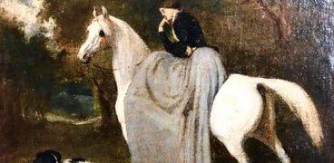 لوحه فيكتوريا آدم داخل متحف الفنون الجميلة بالإسكندرية