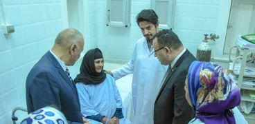 """محافظ الإسكندرية يتفقد تطوير وحدة الجهاز الهضمي والمناظير بـ""""الحميات"""""""