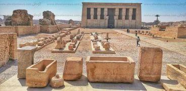 المتحف المفتوح في معبد دندرة بقنا