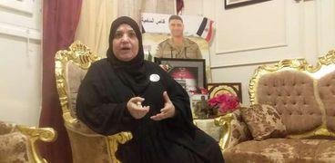 والدة الشهيد البطل الرائد محمد صلاح خلال حديثها للوطن