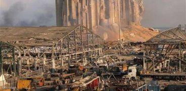 آثار انفجار ميناء بيروت