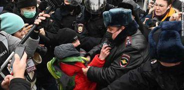 احتجاجات فى روسيا