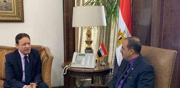 رئيس الأعلى للإعلام يلتقي وزير الإعلام اليمني