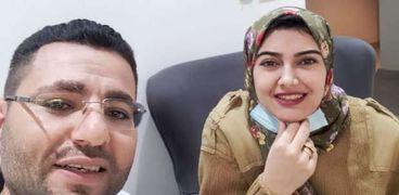 المهندس أحمد عاطف المختفي وزوجته